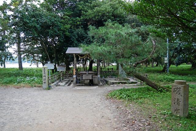 天橋立神社の磯清水
