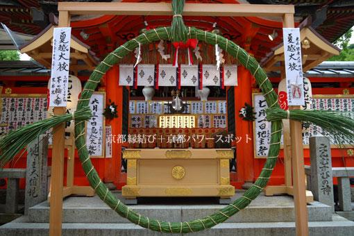 地主神社の茅の輪