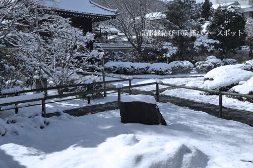 源光庵の雪景色