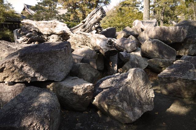 伏見城の石