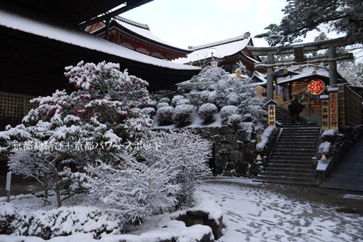 地主神社の雪景色