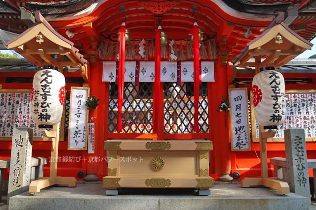 地主神社の桜