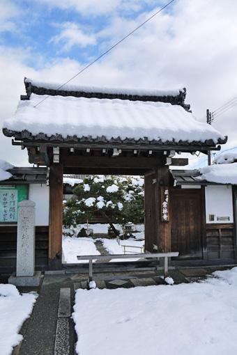 常林寺の雪景色