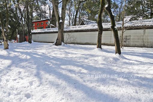 河合神社の雪景色