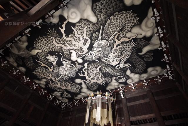 建仁寺の天井の龍