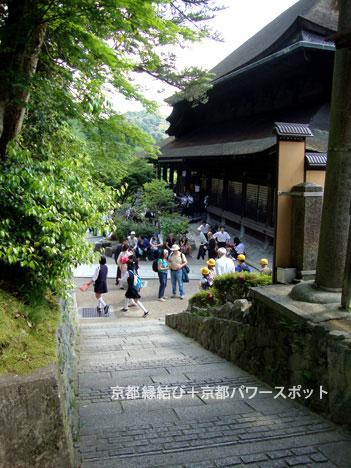 清水寺の舞台のわき