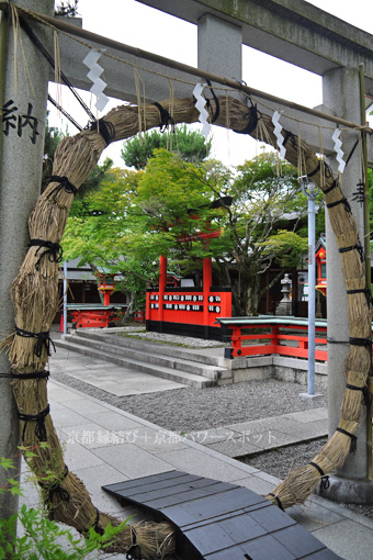 車折神社の茅の輪