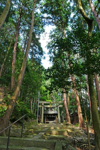 縁結びの宮垣神社の境内