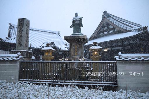 妙伝寺の雪景色