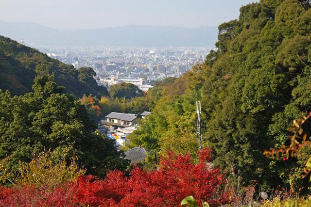 清閑寺から見る京都の景色