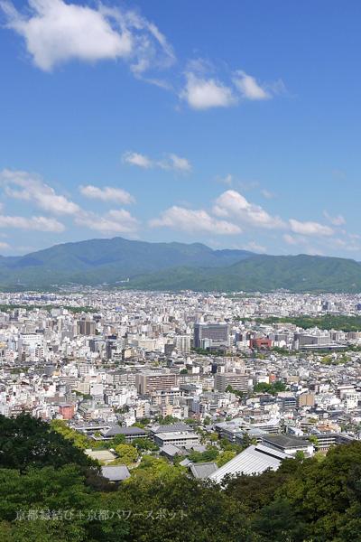 将軍塚大日堂の展望台からの眺望