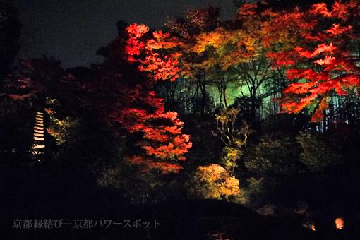 青蓮院の紅葉ライトアップ