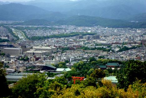 将軍塚大日堂からの眺望