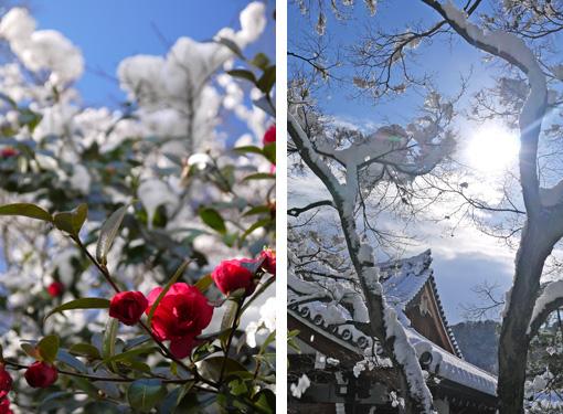 天龍寺の雪景色